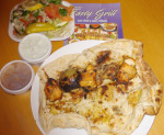 Grilled chicken kebab persian tasty grill